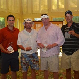 1st Place Low Net: Michael Latour, Todd Ryman, Todd Coker, Earl Steinmetz