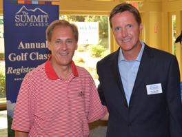 Presenting Sponsor, Jim Pope, President and CEO of KeyWorth Bank with Don Barden, Chair of the Board of the Summit Counseling Center