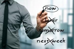 no procrastination concept - do it now