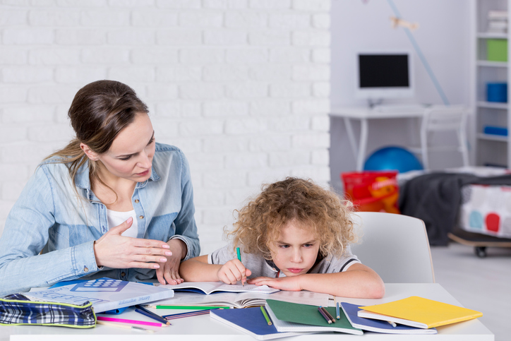 Child having problem with concentration