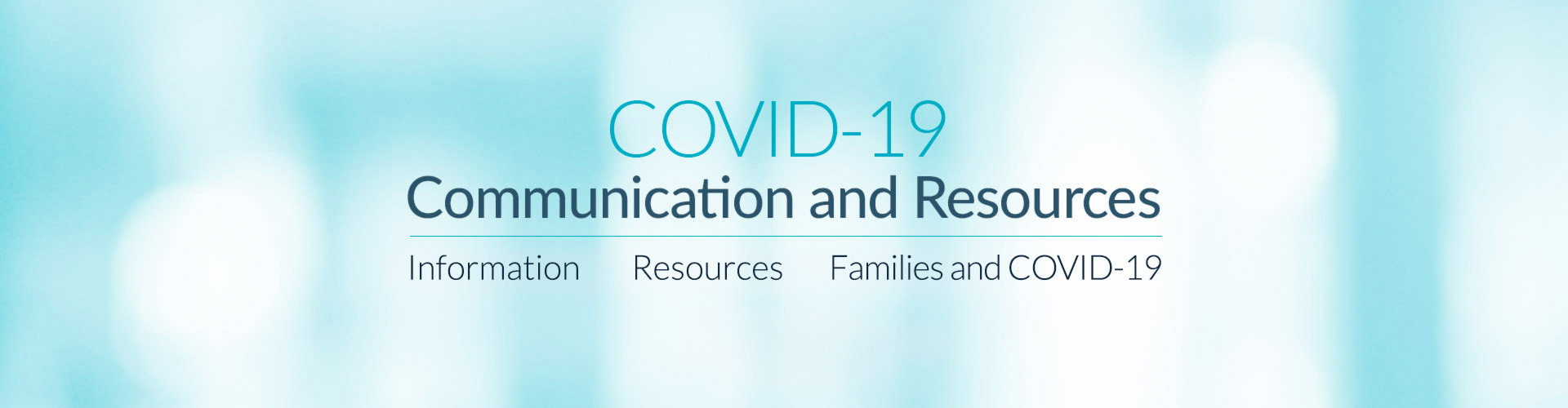COVID-19 Communication and Resources